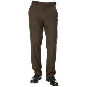 Mens Flex Gabardine Dress Pants Chocolate Brown